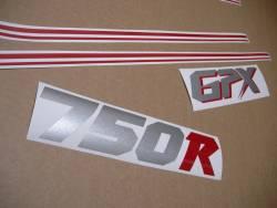 Kawasaki GPX 750R 1986-1987 complete stickers kit