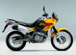 Honda Dominator NX 650 1997-1998 yellow graphics