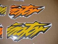 Honda Dominator NX650 1998 yellow version decal kit