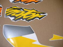 Honda Dominator NX 650 1997-1998 yellow stickers set