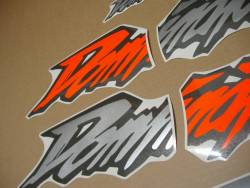 Autocollants for Honda Dominator NX 650 1997 orange