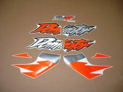 Decals for Honda Dominator NX 650 1997 orange