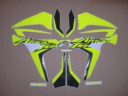 Neon Fluorescent yellow decals for Honda Africa Twin