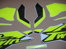 Fluo signal yellow/green decals for Honda Africa Twin