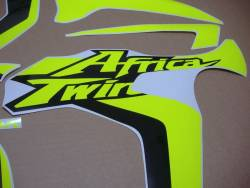 Neon Fluorescent yellow stickers for Honda Africa Twin