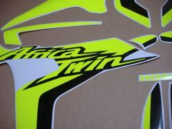 Neon Fluorescent yellow graphics for Honda Africa Twin