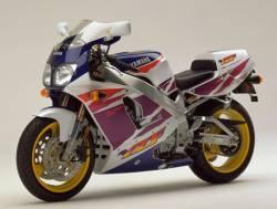 Yamaha YZF 750R 1994 white/purple version decals