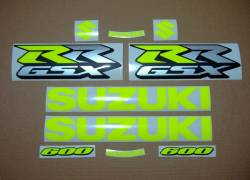 Suzuki GSX-RR 1000 custom neon yellow decal set