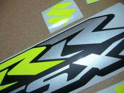 Fluorescent yellow decals for Suzuki GSXRR 750