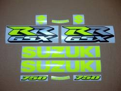 Neon fluo yellow decals for Suzuki GSX-RR 750