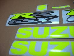 Suzuki GSXRR 750 high visibility yellow decals