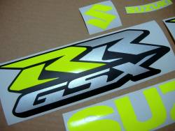 Suzuki GSX-RR 750 neon yellow/green decal set