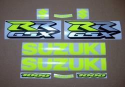 Fluorescent yellow stickers for Suzuki GSXRR 1000
