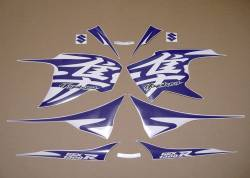 Purple kanji logo emblems for Suzuki hayabusa 1340