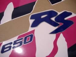 Suzuki DR 650 RSE 1991 white replacement decals