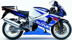Suzuki GSXR 1000 2001 white labels graphics