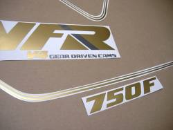 Adhesives set for Honda VFR 750f '89 white model