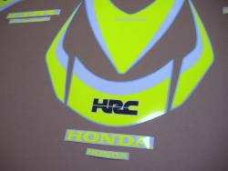 Neon yellow graphics for Honda CBR 1000RR Fireblade