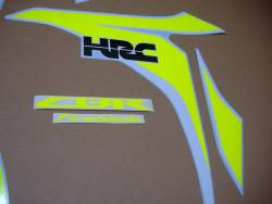 Fluo yellow stickers for Honda CBR 1000RR Fireblade