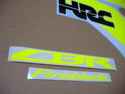 High visibility yellow decals for Honda CBR 1000RR