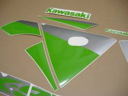 Lime green customized stickers for Kawasaki ZX-9R
