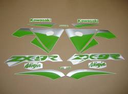Lime green customized decals for Kawasaki ZX-9R