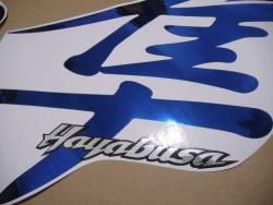 Suzuki Hayabusa 2000 oem style kanji blue sticker set