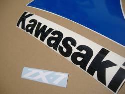 Kawasaki zx7 1991 j1 oem style restoration decal set