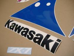 Kawasaki zx7 1991 complete replacement graphics set
