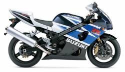 Suzuki gsxr 1000 2003 white complete stickers set