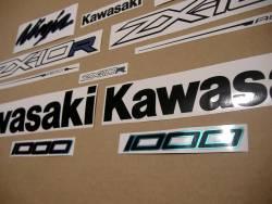 Kawasaki zx10r ninja 2011-2016 alternative color adhesives