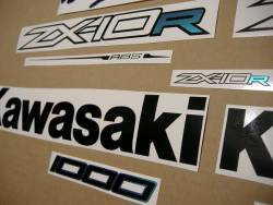 Kawasaki zx10r ninja 2011-2016 custom color decals