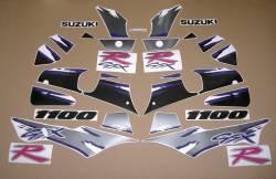 Decals for Suzuki GSXR 1100w 1993 black/grey model
