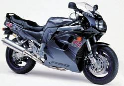 Suzuki GSXR 1100w 1993 black/grey model decals set