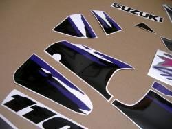 Suzuki GSXR 1100w 1993 grey replacement decal set