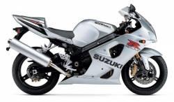 Suzuki GSX-R 1000 2003 silver decals kit