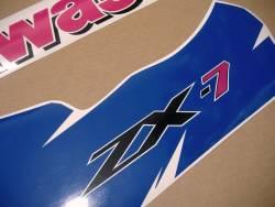 Stickers for Kawasaki ZX-7 1994 green/blue model