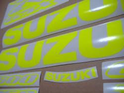 Suzuki GSXR 600/750/1000 neon yellow logo stickers
