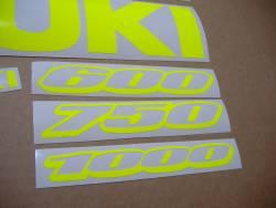 Suzuki GSXR 600/750/1000 neon yellow gixxer decals