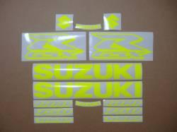Suzuki GSXR 600/750/1000 neon yellow logo decals