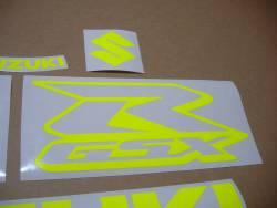 Suzuki GSXR 600/750/1000 neon yellow logo graphics