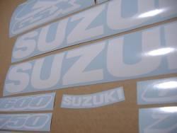 White stickers for Suzuki GSXR (Gixxer) 1000 cc