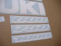 White adhesives for Suzuki GSXR (Gixxer) 1000 cc