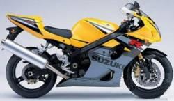 Suzuki gsx-r 1000 K4 yellow full stickers set