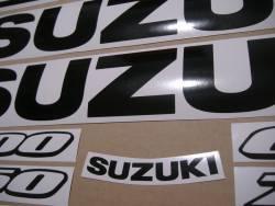 Suzuki gsxr 750 black color decals set