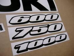 Suzuki gsxr 750 black color stickers set