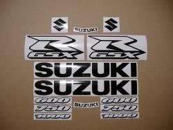 Suzuki gsxr 750 black color graphics set
