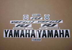 Satin black color logo decals for Yamaha R1