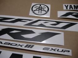 Matte black color logo decals for Yamaha R1