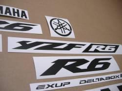 Satin black color logo decals for Yamaha R6